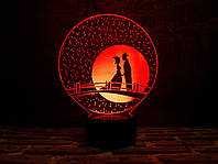 "Сменная пластина для 3D ламп ""Мост влюбленных"" 3DTOYSLAMP, фото 1"