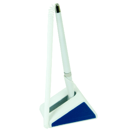 Ручка шариковая на подставке Buromax BM8143-01 синяя, фото 2
