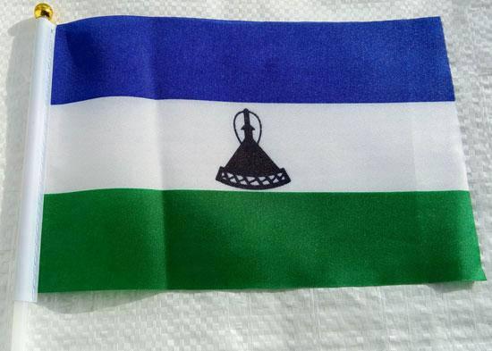 Флажок Лесото 13x20см на пластиковом флагштоке, фото 2