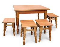 """Набір """"Модерн"""" розкладний стіл з стільницею і 4 табурети (вгору дсп)"""