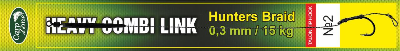 Готовый поводок Hunters Braid Talon Tip Hook Link 0,3 mm / 15 kg №2