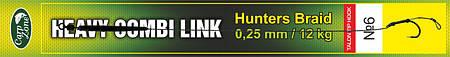 Готовый поводок Hunters Braid Talon Tip Hook Link 0,25 mm / 12 kg №6