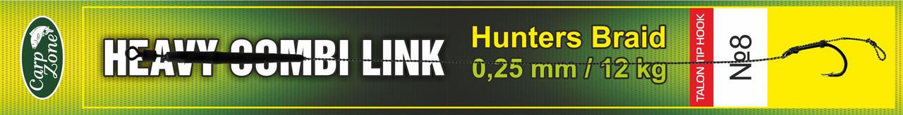 Готовый поводок Hunters Braid Talon Tip Hook Link 0,25 mm / 12 kg №8