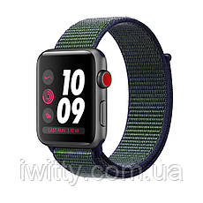 Watch Series 3 Nike+ Cellular 42mm Space Gray Aluminum withMidnight Fog Nike Sport Loop(MQLH2), фото 2
