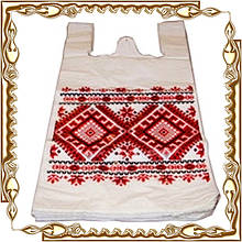 "Майка 30*50 Вишиванка ""ТМ Українець"" 100 шт/уп."