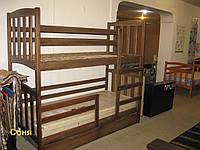 """Кровать детская двухъярусная """"Соня"""", с ящиками, фото 1"""