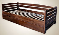 """Кровать деревянная """"Mini"""" с ящиками щит"""