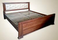 """Кровать двуспальная  """"Magnolia"""" с мягким изголовьем"""