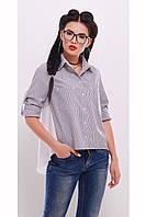 Рубашка классическая со струящейся вставкой «Селина»