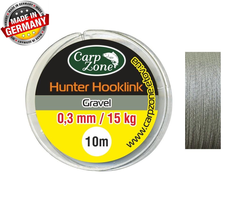Поводочные материалы Hunter Hooklink Gravel 10m 0,3 mm / 15 kg 10m