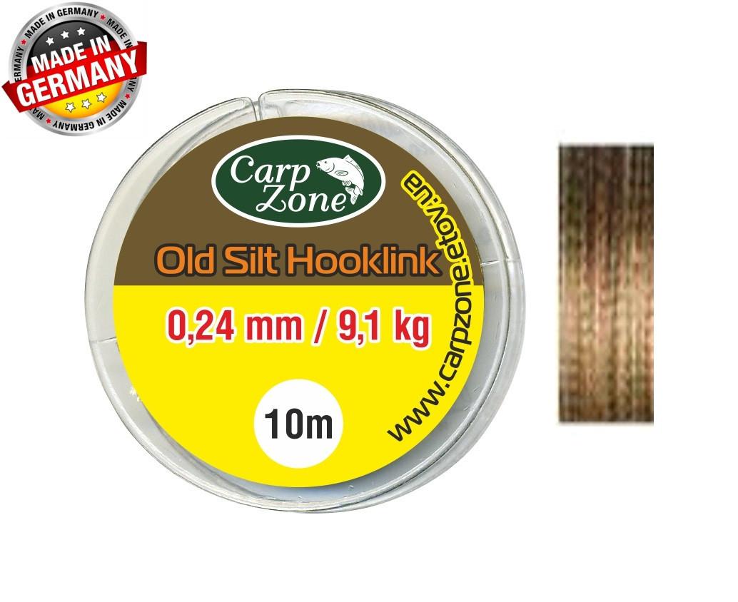 Поводочные материалы Old Silt Hooklink 10m 0,24 mm / 9,1 kg