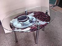 """Стол обеденный стеклянный овальный """"Estet"""" 10"""