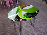 """Стол обеденный стеклянный овальный """"Estet"""" 11, фото 1"""