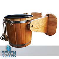 Ведро-водопад для бани Seven Seasons™ с пластмассовой вставкой, 15 л