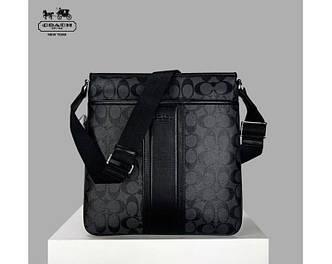 Мужская сумка Coach (247) grey SR-796