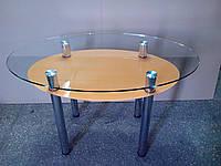 """Стол обеденный стеклянный овальный """"Estet"""" 12"""