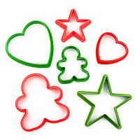 Вырубка для печенья Человечек+Сердце+Звездочка 6шт