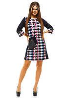 Яркое женское платье с карманом