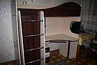 """Кровать чердак со столом и шкафом """"Глория"""""""