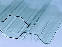 Монолитный профилированный поликарбонат Borrex (Борекс) 1,05*2 м 1,3 мм Прозрачный, фото 1