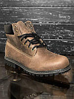 45 размер(30 см) - Зимние мужские ботинки Timberland Classic Boots Dark Brown с мехом 7013