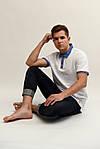 Стильная мужская футболка-поло с вышитым воротником, фото 2