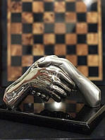 Статуэтка Рукопожатие серебро 925 проба