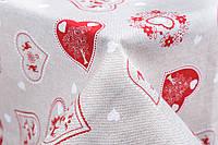 Скатерть с  принтом Сердце, 135х180 см, Эксклюзивные подарки, Столовый текстиль