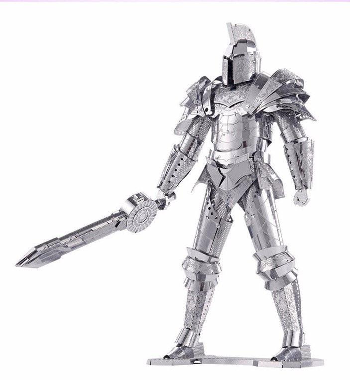 3D конструктор из металла: Рыцарь с мечом! Трехмерный пазл головоломка!