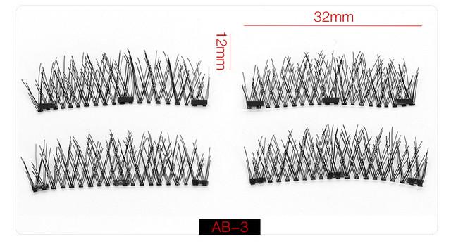 вії на трьох магнітах ручної роботи 3D/6D