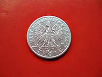 Ядвига 2 польских злотых 1933 г. Серебро 750 пробы, фото 1