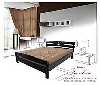 """Кровать из натурального дерева """"Эдельвейс"""" 1800х2000"""