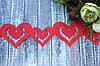 "Гирлянда из фетра ""Сердца"" 95 см красного цвета"