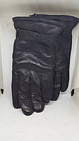 Мужские кожаные перчатки Зимушка с натуральным мехом овчины