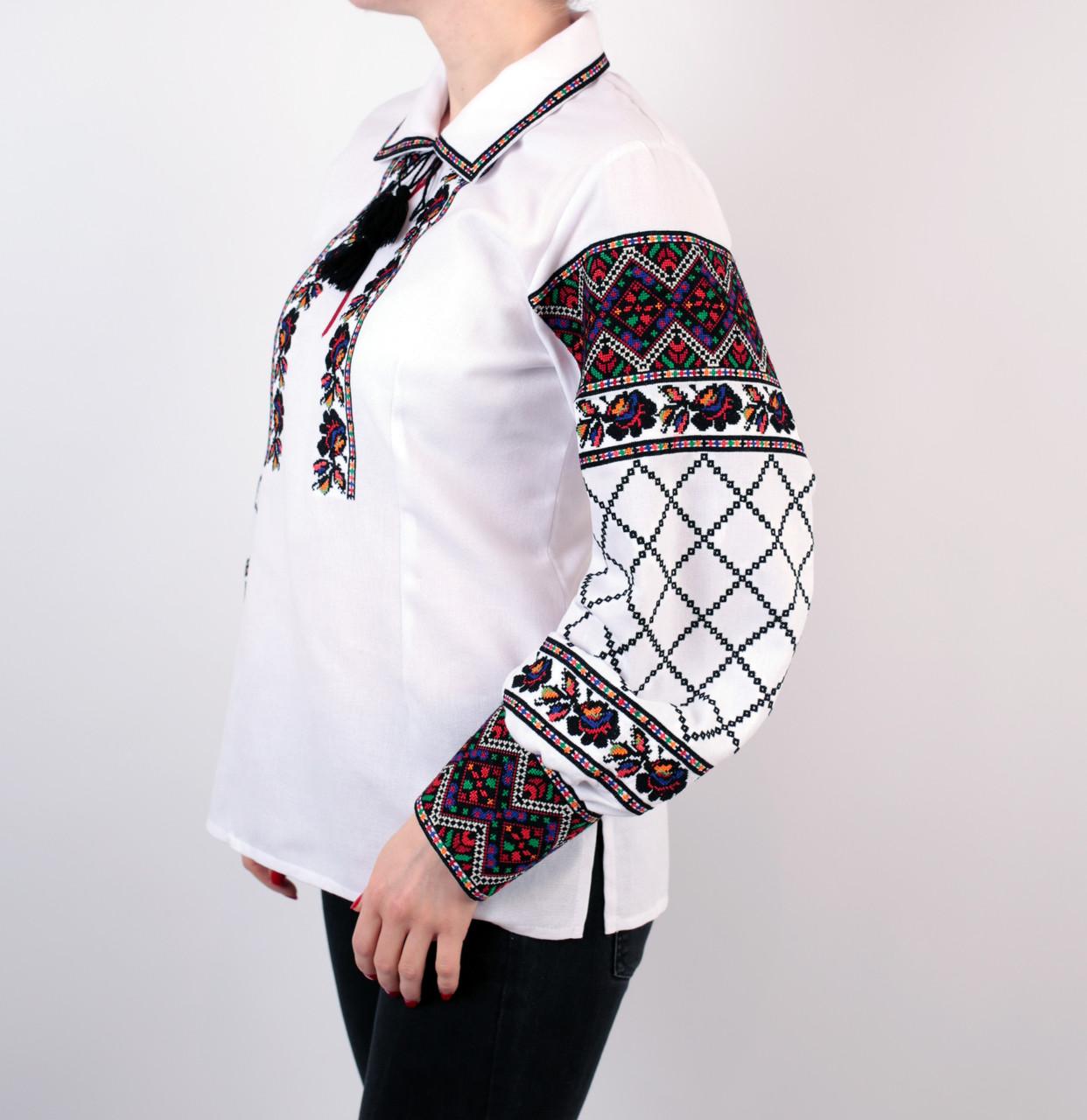 772ccee0966e66 Жіноча багата вишиванка з комірцем, машинна вишивка: продажа, цена в ...