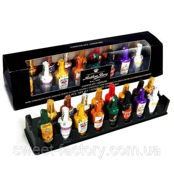 Anthon Berg набор шоколадных бутылочек с алкоголем внутри