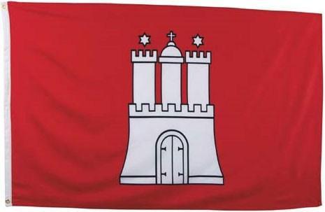 Флаг Гамбурга 90х150см MFH 35105F