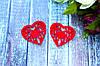 Декоративное сердце из фетра 10 шт/уп.,  5 х 5 см красного цвета оптом