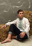 Хлопковая мужская сорочка с вышитым орнаментом , фото 2