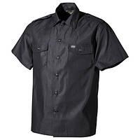 Рубашка с коротким рукавом американского типа, чёрная MFH 02712Q