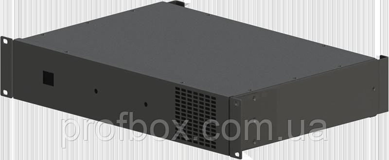 Корпус усилителя мощности звука (двухканальный + 1 вентилятор)