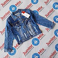 Подростковый  модный джинсовый пиджак для девочек  оптом  JOY