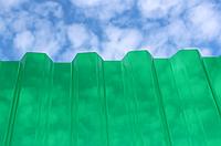 Монолитный профилированный поликарбонат Borrex (Борекс) 0,8 мм Зеленый, фото 1