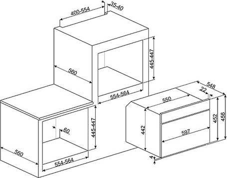 Духовой шкаф с микроволновой печью Smeg SF4102MCS, фото 2