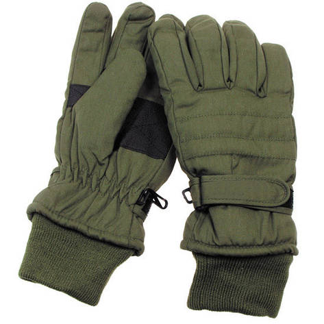 [Спец.ЦЕНА] Перчатки с утеплителем и манжетой тёмно-зелёные (M) MFH 15474B, фото 2