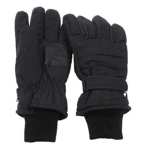 [Спец.ЦЕНА] Перчатки с утеплителем и манжетой чёрные (M) MFH 15474A, фото 2