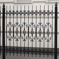 Забор решетчатый кованый-1
