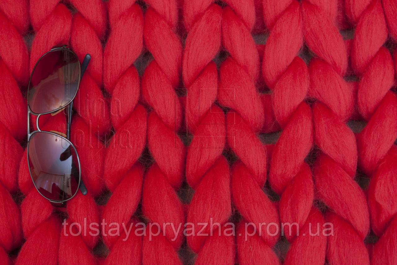 Плед з вовни (колір червоний)