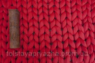 Плед з вовни (колір червоний), фото 3
