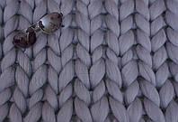 Плед из шерсти (цвет туча) 0,8х1,2 м